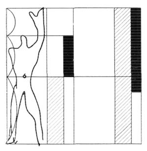 Рис. 16. Ле Корбюзье. Le Corbusier. Mod 1. Модулор 1