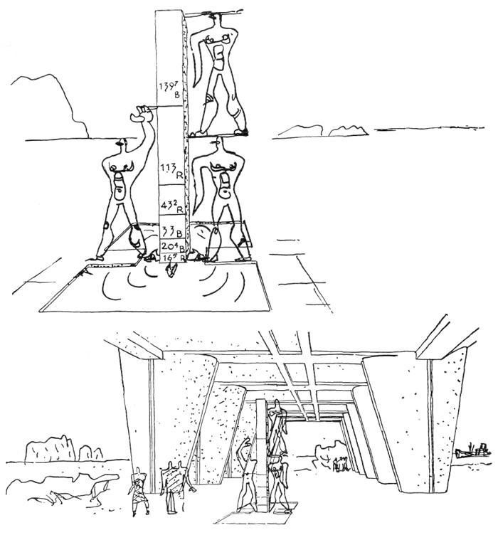 Рис. 41. Ле Корбюзье. Le Corbusier. Mod 1. Модулор 1