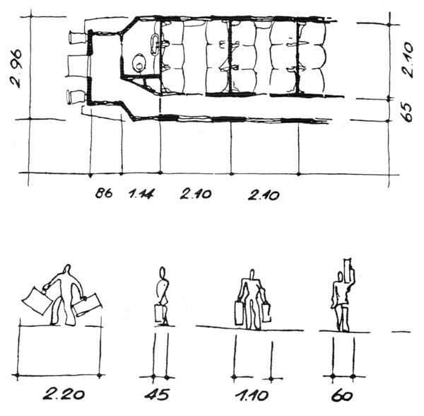 Рис. 56. Ле Корбюзье. Le Corbusier. Mod 1. Модулор 1