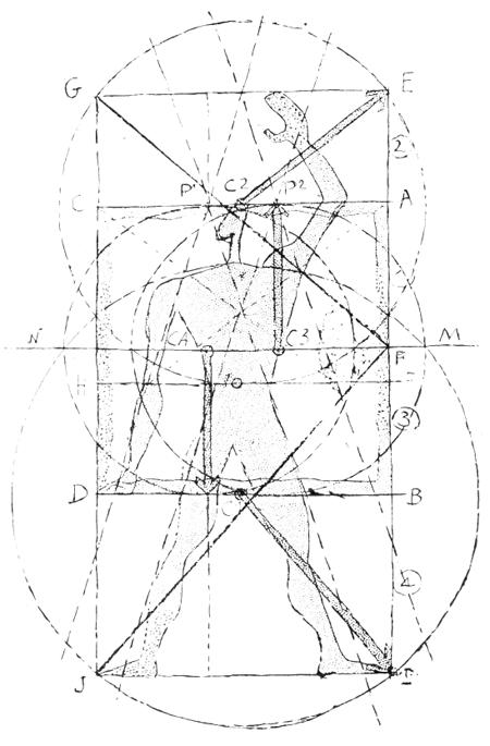 Рис. 59. Ле Корбюзье. Le Corbusier. Mod 1. Модулор 1