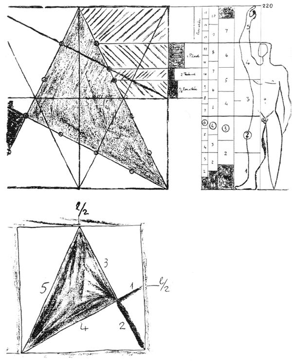 Рис. 4. Ле Корбюзье. Le Corbusier. Mod 2. Модулор 2