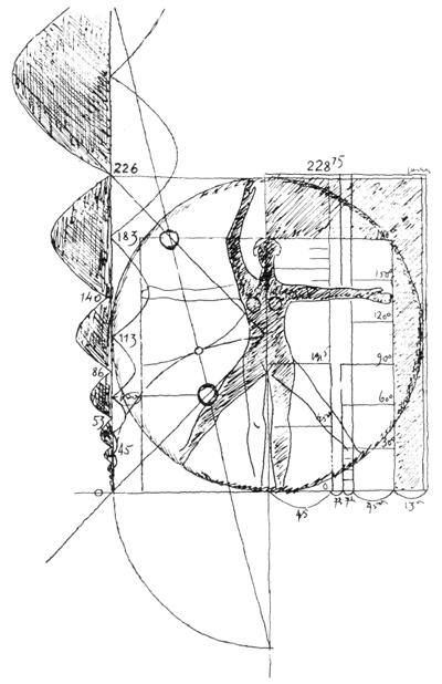 Рис. 5. Ле Корбюзье. Le Corbusier. Mod 2. Модулор 2