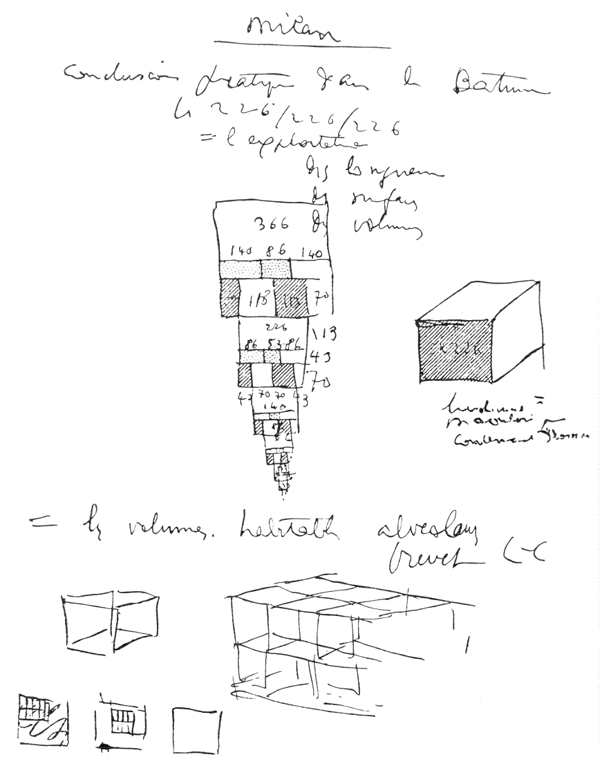 Рис. 19. Ле Корбюзье. Le Corbusier. Mod 2. Модулор 2