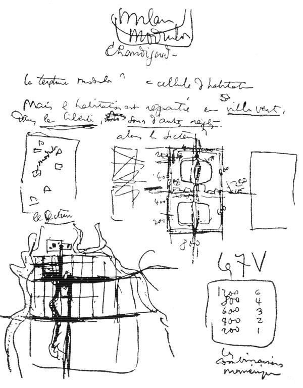 Рис. 20. Ле Корбюзье. Le Corbusier. Mod 2. Модулор 2