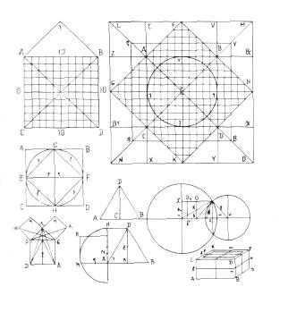 Рис. 23. Ле Корбюзье. Le Corbusier. Mod 2. Модулор 2