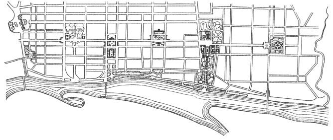 Схема планировки центрального
